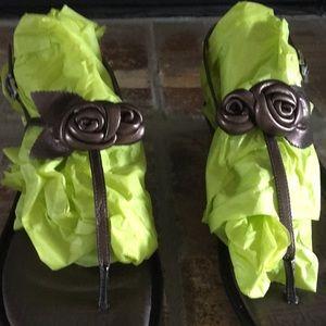 Roskport sandals. Size 81/2, bronze in color